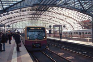 gare, ville, la gare, l'acier, le terminal, train