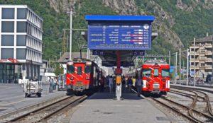 Gare, train, construction, béton, personnes, voyage